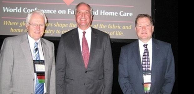 Conference chairman Keith Grime, Unilever CEO Paul Polman and Unilever's Mike Parkington.