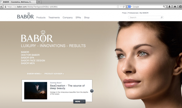 Babor Revamps Website