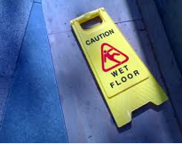 What causes a slippery floor