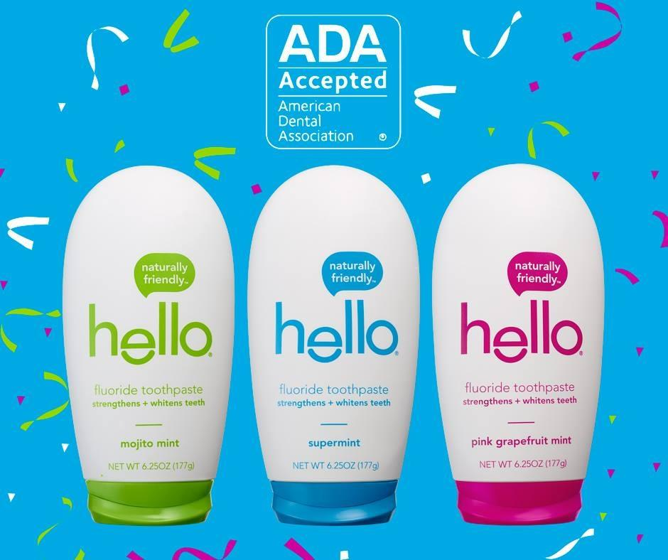 Hello Toothpastes Earn ADA Seal